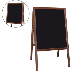 Dryerase Marquee Easel Blk 2 Sd