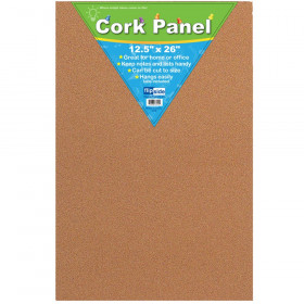 "Cork Panel, 12 1/2"" x 26"""