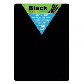 "Black Dry Erase Board, 18"" x 24"""