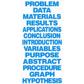 Science Fair Title Cards, Neon Blue