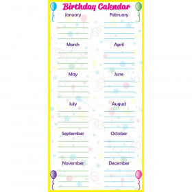 Low-Tac Birthday Calendar Vertical