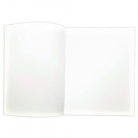 "Soft Cover Blank Book, 8.5"" x 11"" Portrait, 4 Sheets Per Book, Pack of 12"