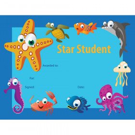 Star Student Certificate 30 Pk Under The Sea