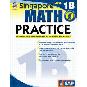 Singapore Math Practice Resource Book, Level 1B, Grade 2