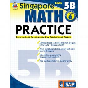 Singapore Math Practice Resource Book, Level 5B, Grade 6