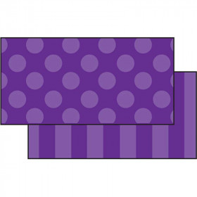 Purple Sassy Solids Double Sided Border