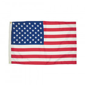 Durawavez Nylon Outdoor U.S. Flag with Heading & Grommets, 3' x 5'