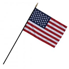 """Heritage U.S. Classroom Flag, 7/16"""" x 48"""" Staff, 24""""W x 36""""L"""