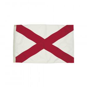 3x5' Nylon Alabama Flag Heading & Grommets