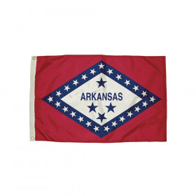 3x5' Nylon Arkansas Flag Heading & Grommets
