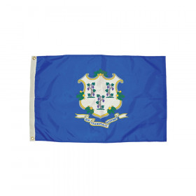 3x5' Nylon Connecticut Flag Heading & Grommets