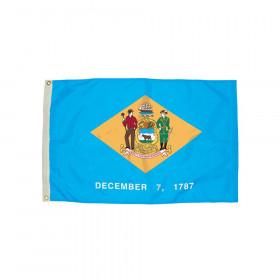 3x5' Nylon Delaware Flag Heading & Grommets