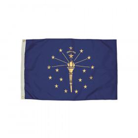 3x5' Nylon Indiana Flag Heading & Grommets
