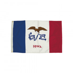 3x5' Nylon Iowa Flag Heading & Grommets