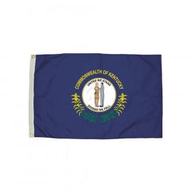 3x5' Nylon Kentucky Flag Heading & Grommets