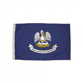 3x5' Nylon Louisiana Flag Heading & Grommets
