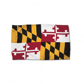 FlagZone Durawavez Nylon Outdoor Flag with Heading & Grommets, Maryland, 3' x 5'