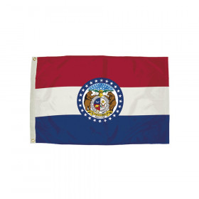 "Nylon Missouri Flag with Heading & Grommets, 36""W x 60""L"