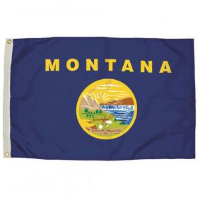 3X5 Nylon Montana Flag Heading & Grommets