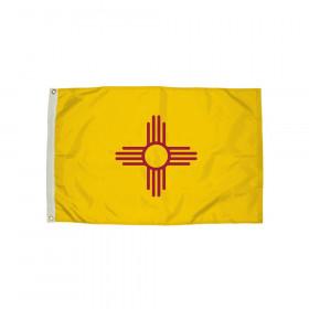FlagZone Durawavez Nylon Outdoor Flag with Heading & Grommets, New Mexico, 3' x 5'