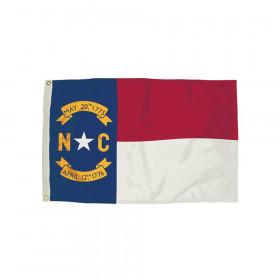 3X5 Nylon North Carolina Flag Heading & Grommets