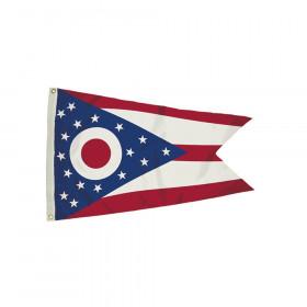 3x5' Nylon Ohio Flag Heading & Grommets