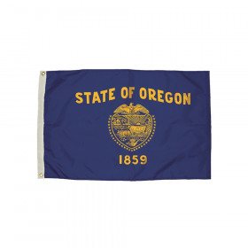 3x5' Nylon Oregon Flag Heading & Grommets