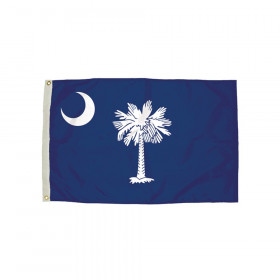 3x5' Nylon South Carolina Flag Heading & Grommets