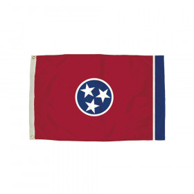 FlagZone Durawavez Nylon Outdoor Flag with Heading & Grommets, Tennessee, 3' x 5'