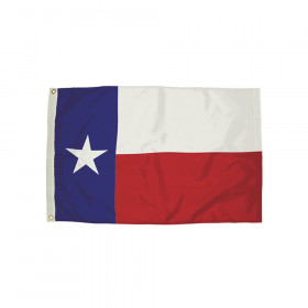 Durawavez Nylon Outdoor Flag with Heading & Grommets, Texas, 3' x 5'