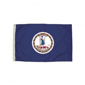 3x5' Nylon Virginia Flag Heading & Grommets