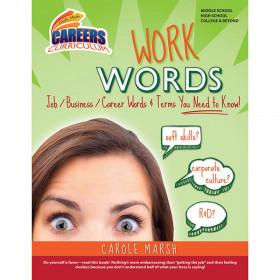 Careers Curriculum, Work Words