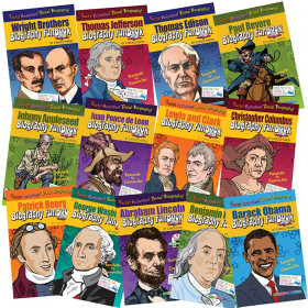 Presidents, Inventors & Explorers Biography FunBook, Set of 13