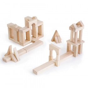 Unit Blocks, Set B, Wooden Building Block Set, 56 Pieces