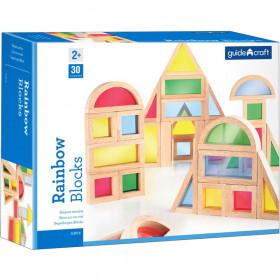 Rainbow Blocks 30 Asst Shapes