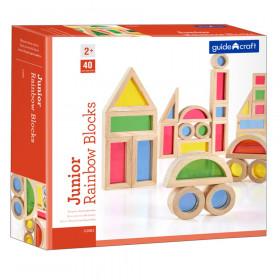Jr. Rainbow Blocks, 40 Piece Set