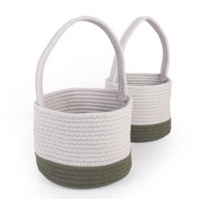 Woven Block Baskets, Set of 2