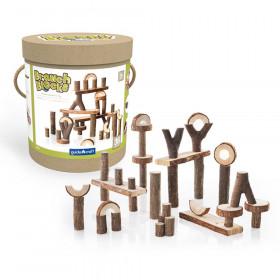 Branch Blocks, Natural Wood Building Set, 36 Pieces