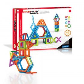 PowerClix Frames, Magnetic Building Set, 48 Pieces