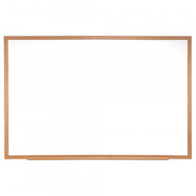 "Wood Frame Non-Magnetic Whiteboard, 24"" x 36"""