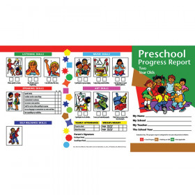 Preschool Progress Report Cards, 10 Per Pack (Age 2)