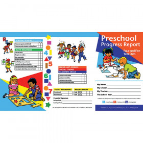 Preschool Progress Report Cards, 10 Per Pack (Ages 4-5)
