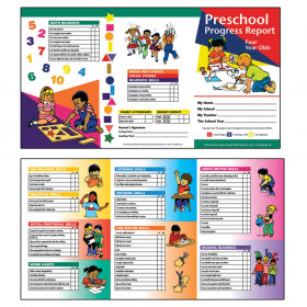 Preschool Progress Report Cards, 10 Per Pack (Ages 4)