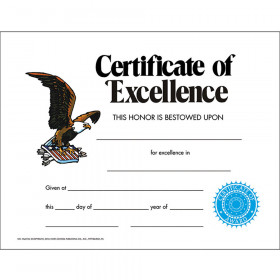 Certificate Of Excellence 30/Set