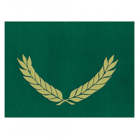 """Gold Foil Stamped Green Certificate Folders, 10"""" x 13"""", Pack of 30"""