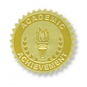 Gold Foil Embossed Seals, Academic Achievement, 54 Per Pack