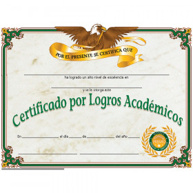Certificate Of Achievement 30/Set Spanish