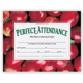 Certificates Perfect 30 Pk 8.5 X 11 Attendance W/ Apples