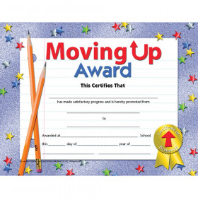 "Moving Up Award Certificate, 8.5"" x 11"", Pack of 30"