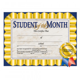 "Student of the Month Certificate, 8.5"" x 11"", Pack of 30"